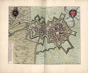 Bergen op Zoom, Stadsplattegrond Joan Blaeu 1652 van Atelier Liesjes