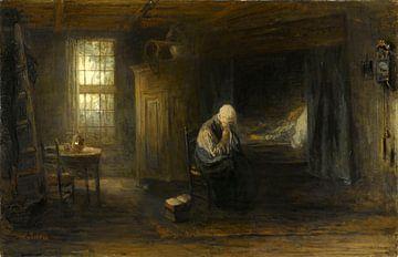 Alone in the World van Jozef Israëls, 1878
