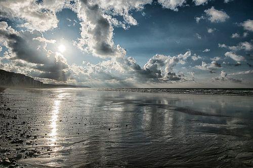 Kliffen bij Dieppe, Normandie van