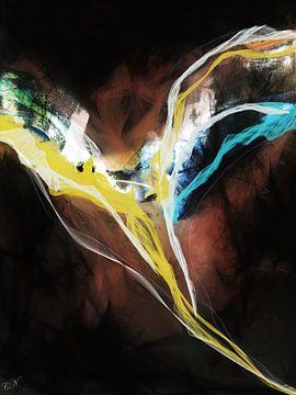 Engelbild Abstrakt - Engel der Nacht von Christine Nöhmeier