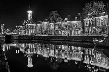 Dokkum Niederlande Schwarz Weiss von Peter Bolman