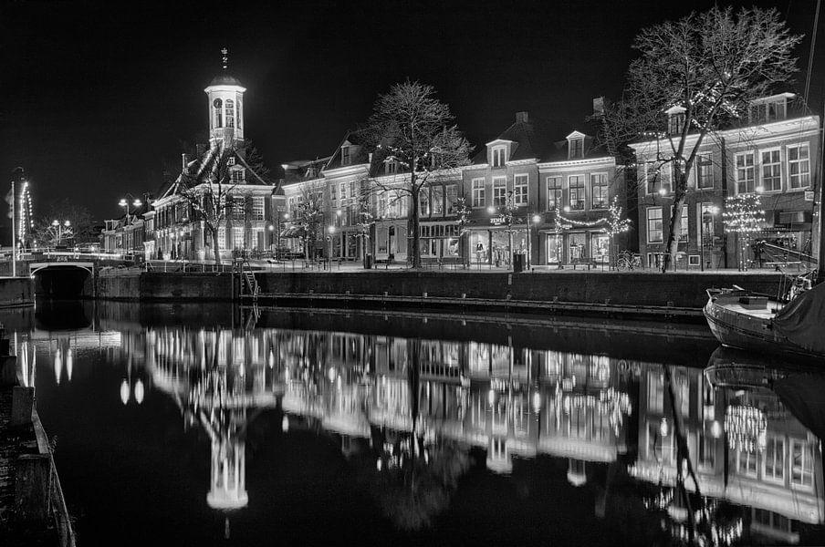 Dokkum Nederland Zwart Wit van Peter Bolman