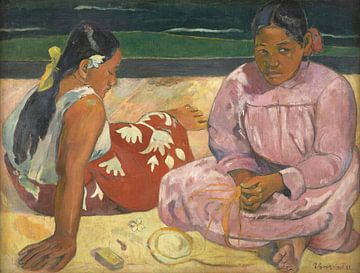 Tahitianische Frauen am Strand, Paul Gauguin