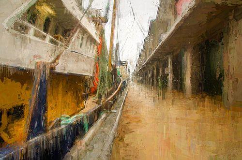 Scheveningen Kai mit Fischerbooten