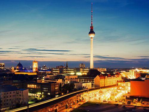 Berlin – Skyline Alexanderplatz van Alexander Voss