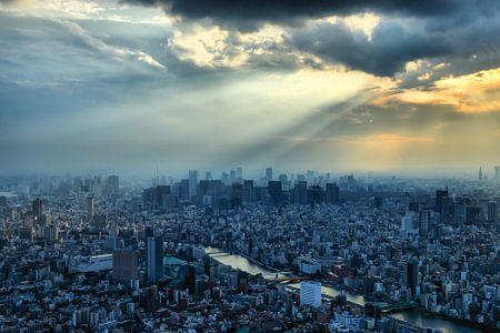 Tokio Sonnenuntergang von Inge van den Brande