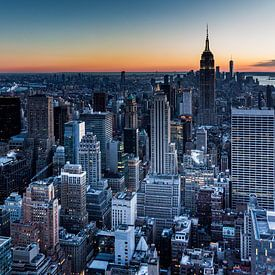 zicht vanaf the rock op New York City van Eric van Nieuwland