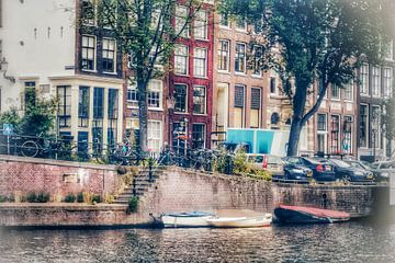 Amsterdamer Kanalatmosphäre von Shirley Douwstra
