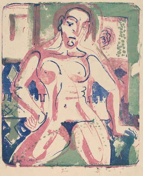 Ernst Kirchner, Nackte Frau, 1927 von Atelier Liesjes