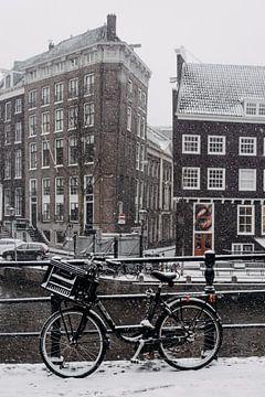 Sneeuw in Amsterdam van Emily Rocha