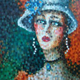 Lady with hat von Janny Heinsman