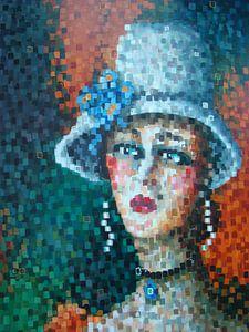 Lady with hat van Janny Heinsman
