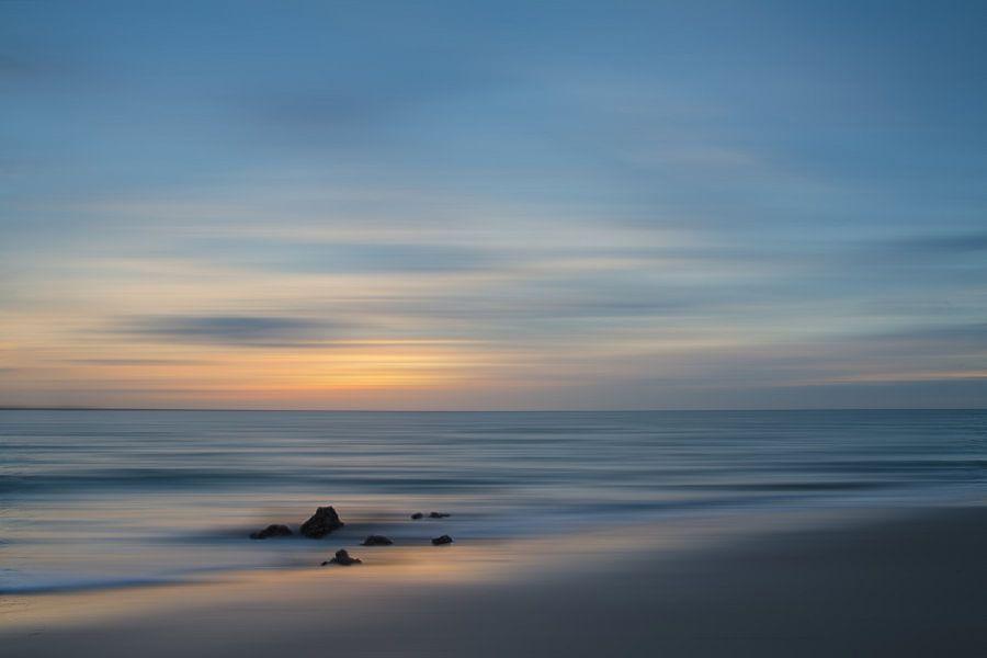 Vlissingen Long exposure tijdens Zonsondergang