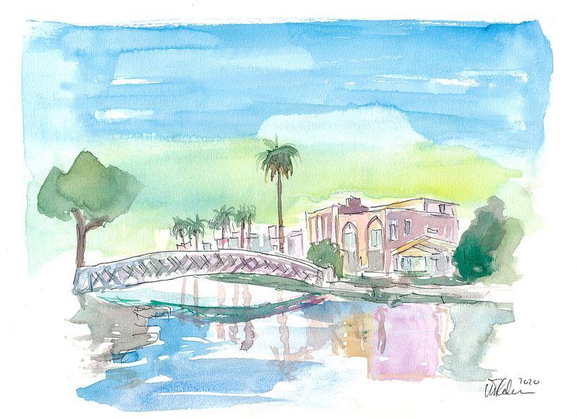 Venice Beach Kalifornien tropisch Kanal Szenerie von Markus Bleichner