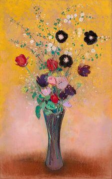 Vase mit Blumen, Odilon Redon, 1916 von Atelier Liesjes