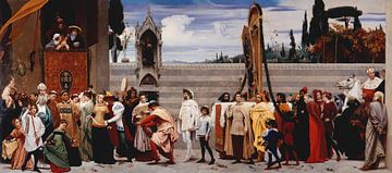 La Madone de Cimabue portée en procession, Frederick Leighton sur