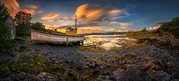 Kyleakin old boat van Wojciech Kruczynski