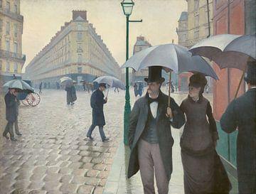 Straße in Paris an einem regnerischen Tag - Gustave Caillebotte von Rebel Ontwerp