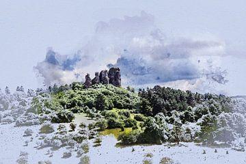 Der Auberg im Gerolstein (Deutschland, in der Eifel) von Art by Jeronimo