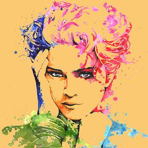 The famous pop singer Madonna drawing