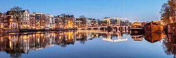 Grachtenhäuser an der Amstel in Amsterdam von Frans Lemmens