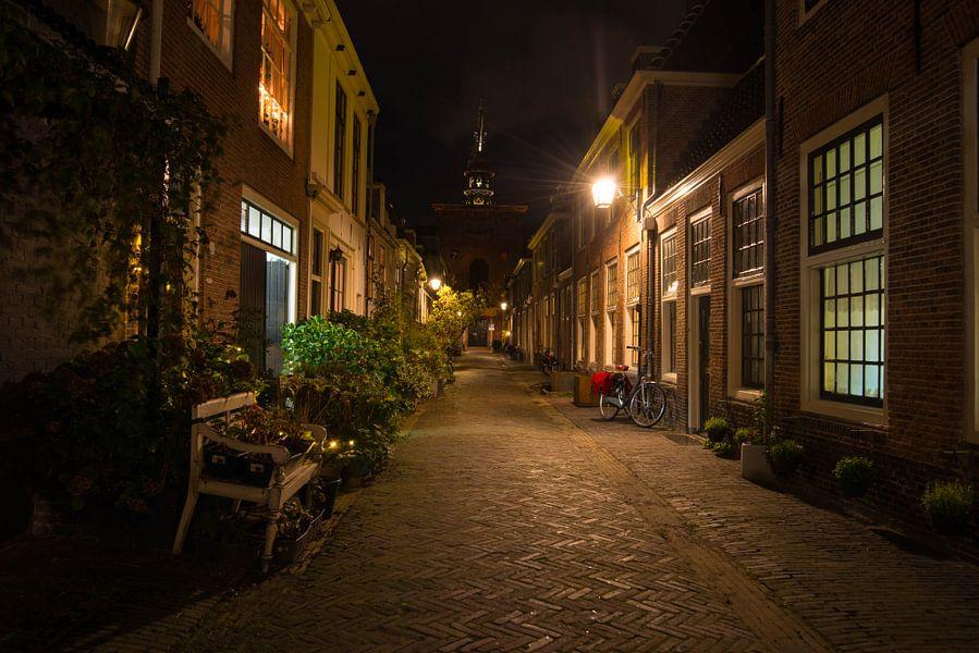 Kerkstraat in Haarlem van Wendy Drent