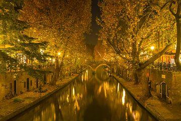 Utrecht - Oudegracht in den Abend von Thomas van Galen
