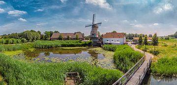 Die Kilsdonk Windmühle, eine wasser- und windbetriebene Mühle, Heeswijk Dinther, Nordbrabant, Nieder von