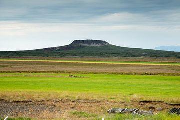 Vulkaan op IJsland sur