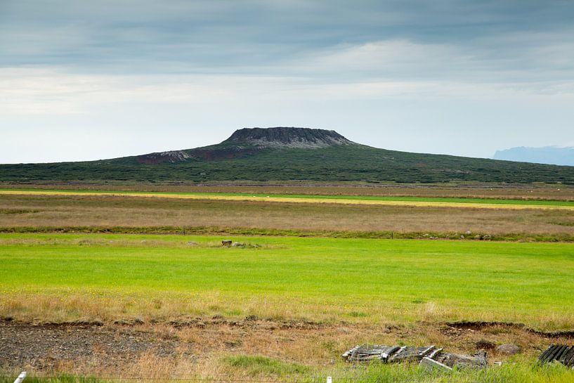 Vulkaan op IJsland van Menno Schaefer