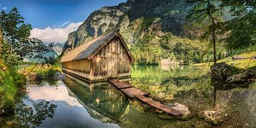 Bootshaus am See in Bayern in Berchtesgaden. von Voss Fine Art Fotografie