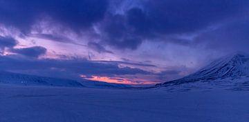 Winter op Spitsbergen, Noorwegen van Adelheid Smitt