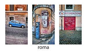 Rome, Italië - Collage drieluik straatbeelden.
