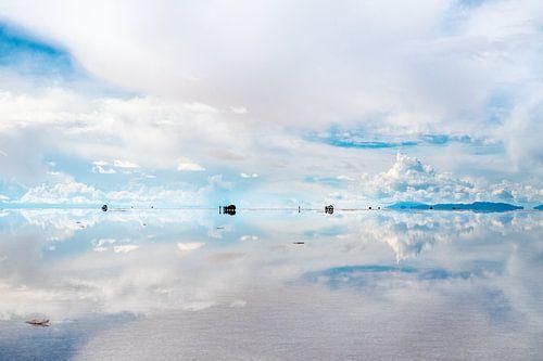 Bolivia zoutvlakte weerspiegeling Salar de Uyuni