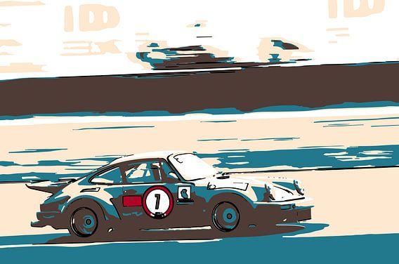 Porsche #7 at race circuit Zandvoort