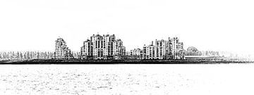 Skyline Breskens (Zeeuws-Vlaanderen, Zeeland) (panorama) van Fotografie Jeronimo