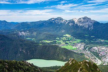 Aussicht vom Gipfel des Prediktstuhls im Berchtesgadener Land von Rico Ködder