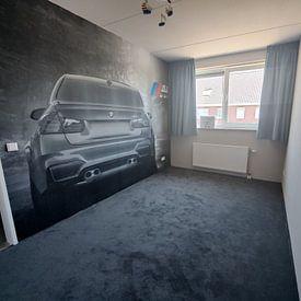 Klantfoto: BMW M3 sportscar in grijs met M logo van Atelier Liesjes, als behang