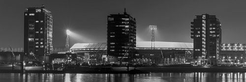 """Feyenoord Stadion """"De Kuip"""" 2017 in Rotterdam (formaat 3/1) van MS Fotografie"""