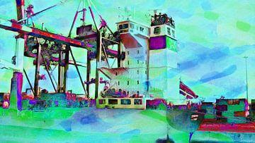 Containerkraan 1 sur Frans Jonker