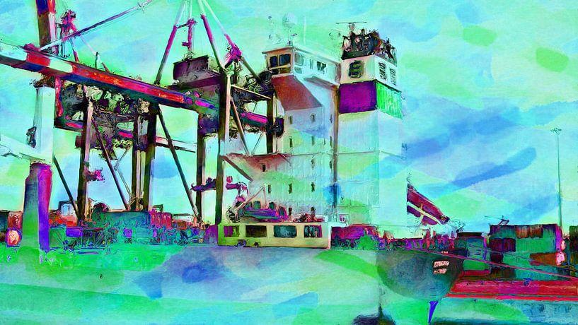 Containerkraan 1 van Frans Jonker