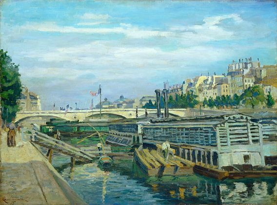 De brug van Louis Philippe, Jean Baptiste Armand Guillaumin van Liszt Collection
