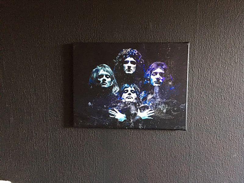 Kundenfoto: Queen Bohemian Rhapsody Abstract in Türkisblau-Violett von Art By Dominic