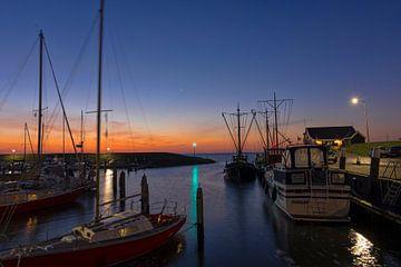 Sonnenaufgang am Hafen von Ouddorp von Charlene van Koesveld
