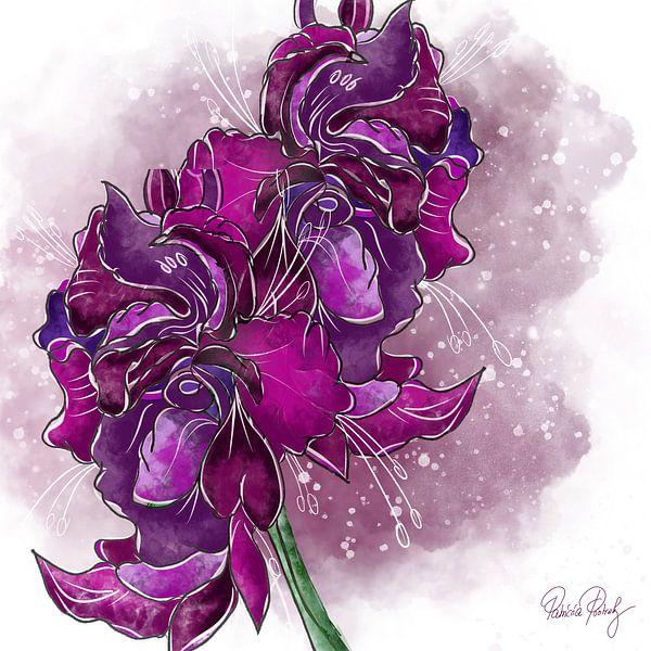 Blumenmotiv - Gladiolen von Patricia Piotrak