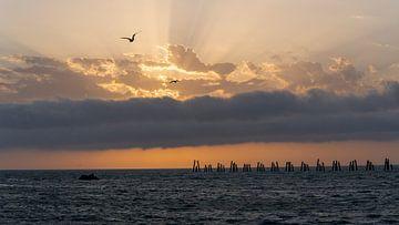 Zonsondergang Zwarte Zee van Daan Kloeg
