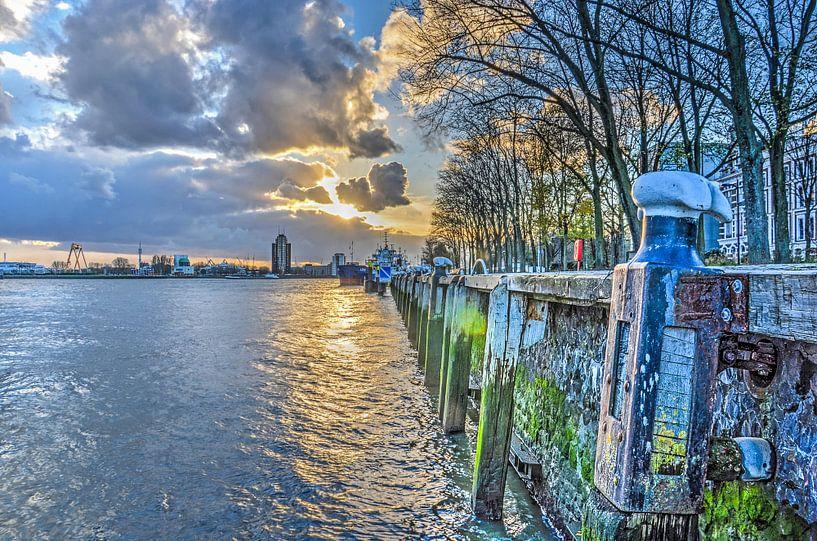 Westerkade en Nieuwe Maas, Rotterdam van Frans Blok