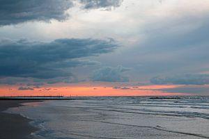 Zonsondergang in Westende - België van