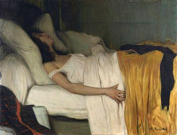 Santiago Rusiñol, La morfinòmana - 1894 von Atelier Liesjes