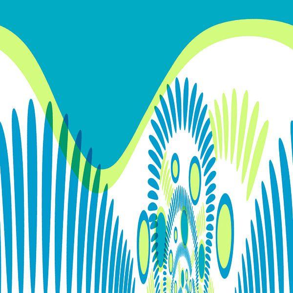 Digital floral blau